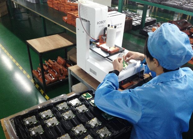 Usine de production de smartphones à Shenzhen, en Chine.